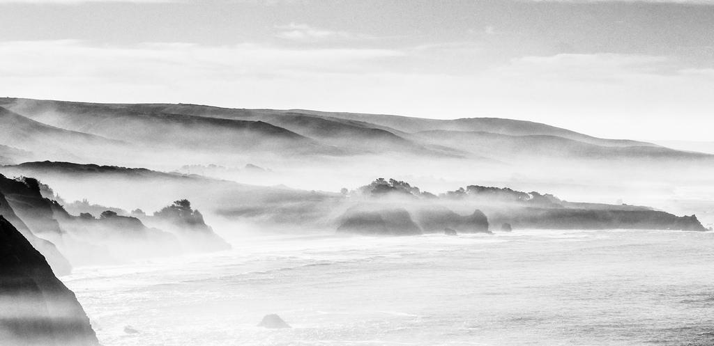 Ragged Point in Mist